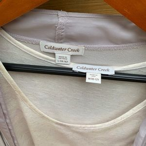 Coldwater Creek Sweaters - Lightweight cardigan and tank top